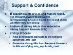 support confidence1