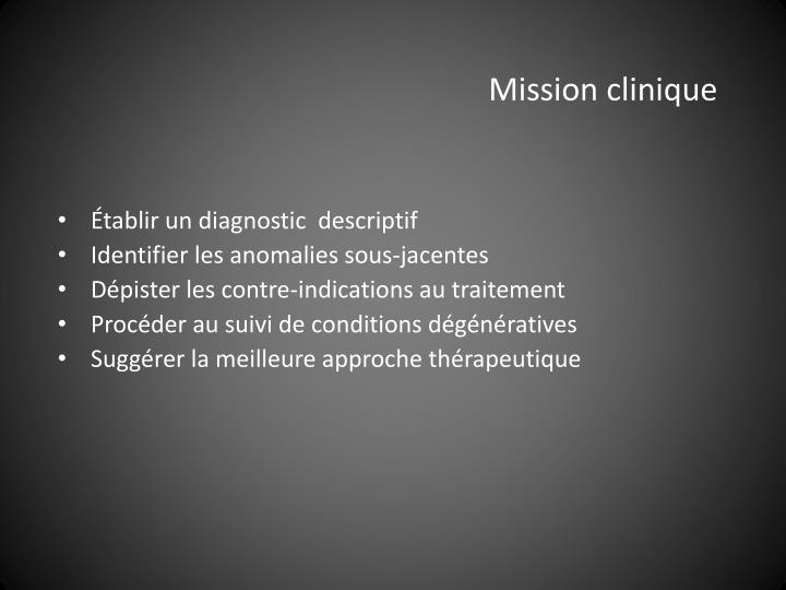 Mission clinique