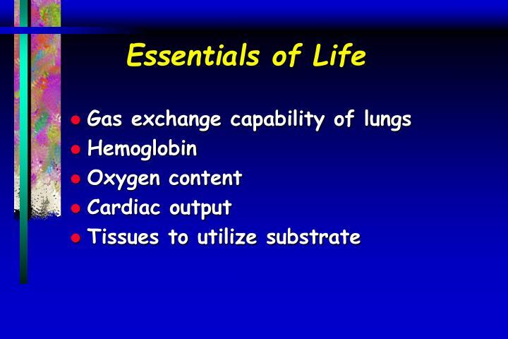 Essentials of Life
