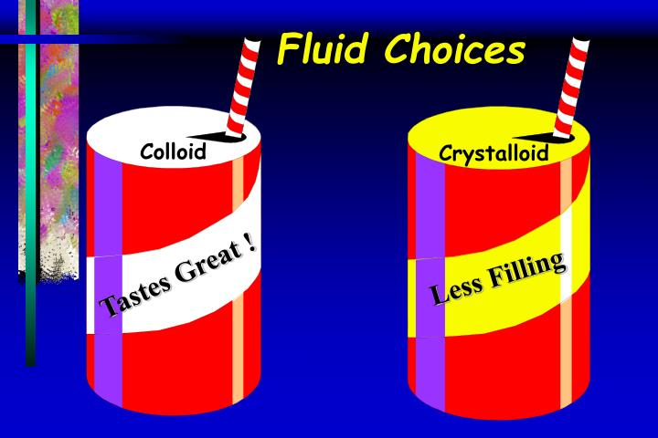 Fluid Choices