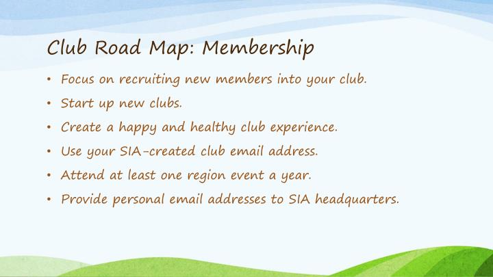 Club Road Map: Membership