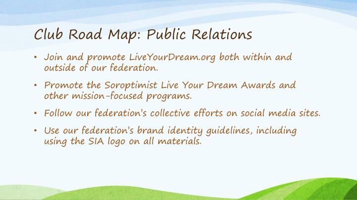 Club Road Map: Public Relations