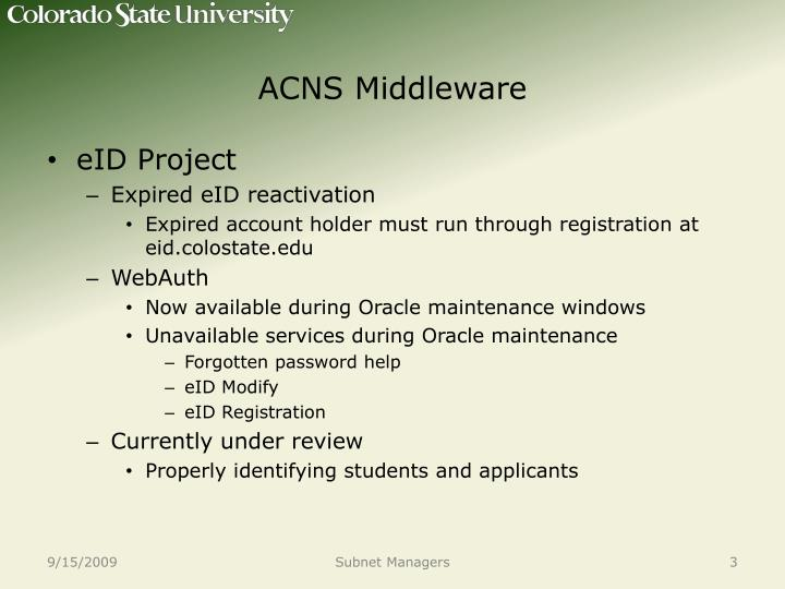 ACNS Middleware