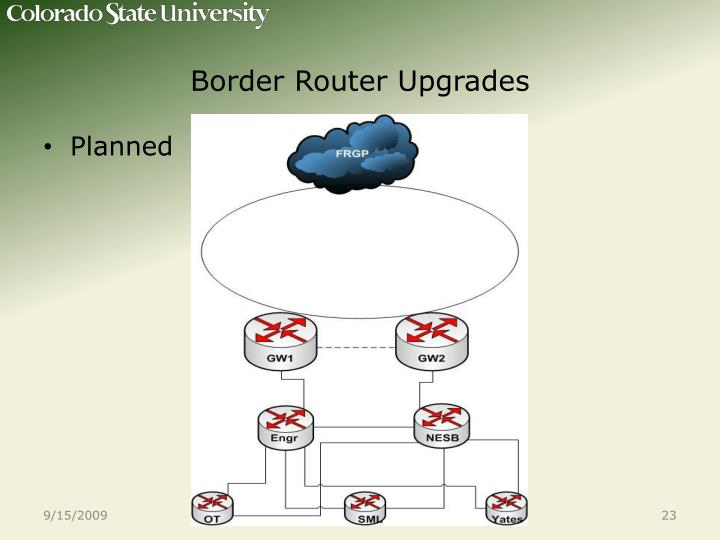 Border Router Upgrades