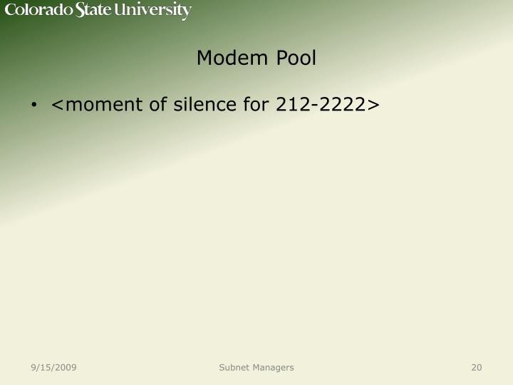 Modem Pool