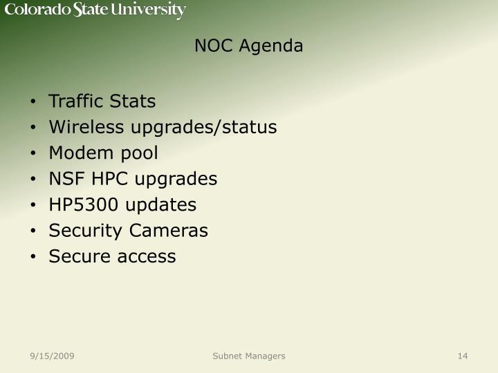 NOC Agenda