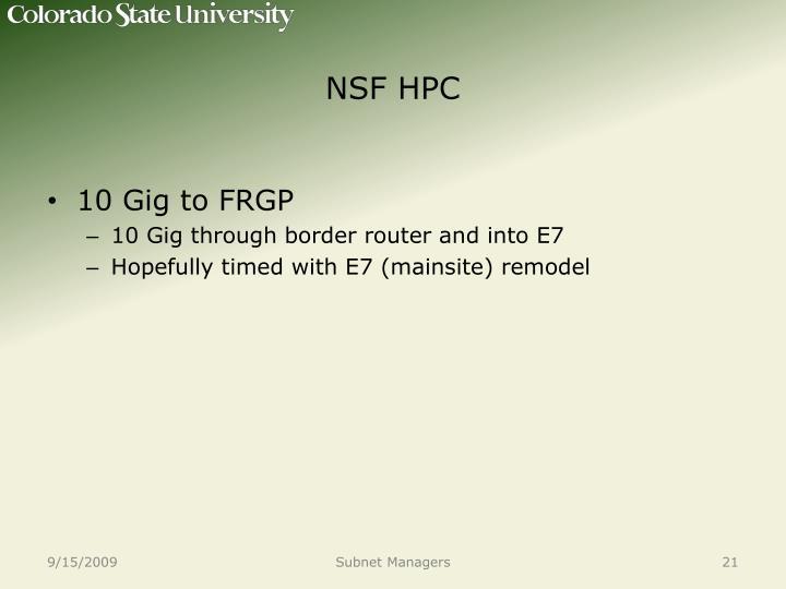 NSF HPC