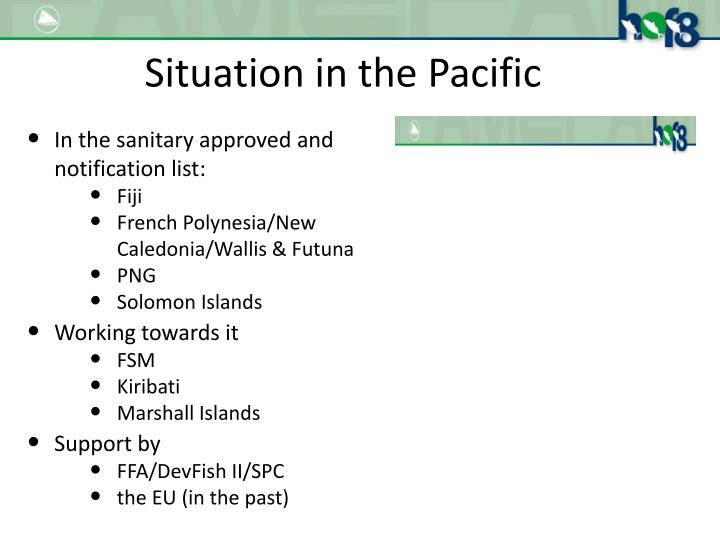 Situation in the Pacific