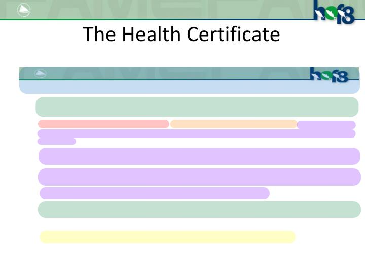 The Health Certificate