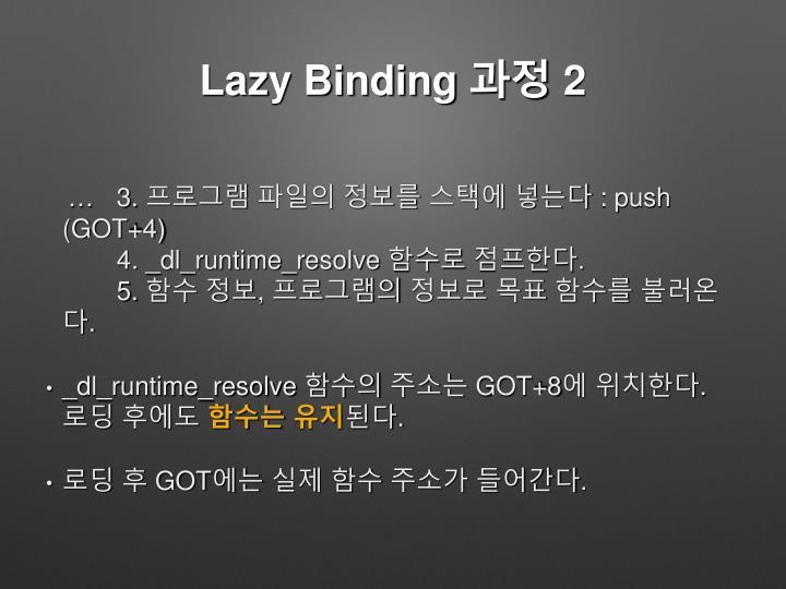 Lazy Binding 과정 2