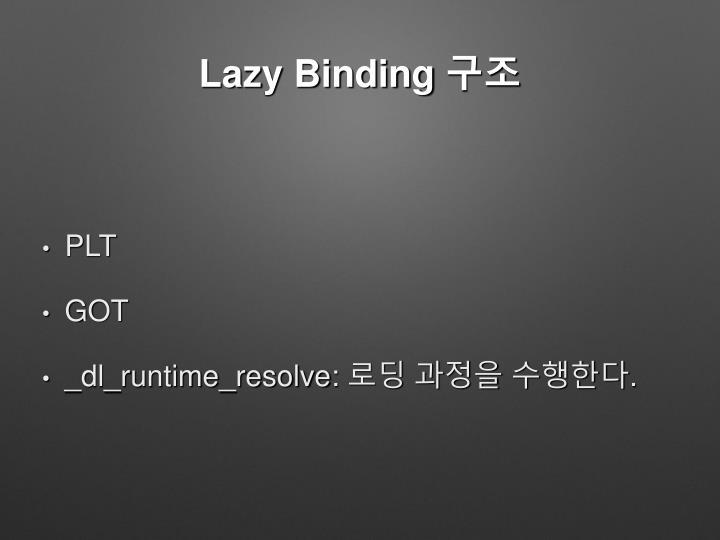 Lazy Binding 구조