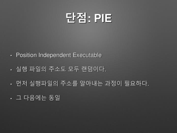 단점: PIE