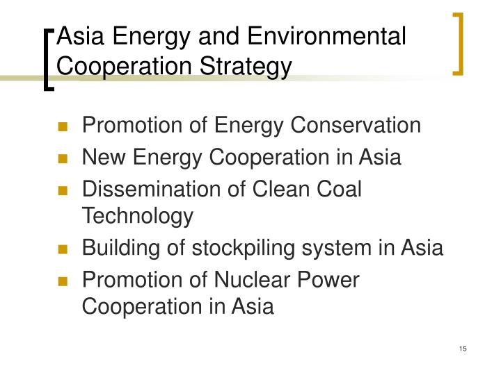 Asia Energy and Environmental Cooperation Strategy