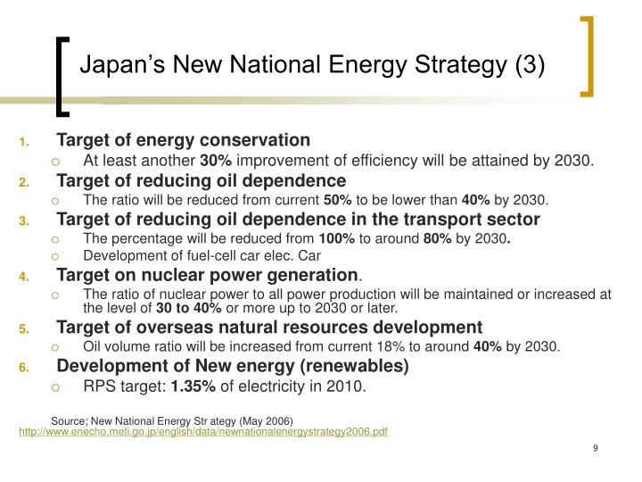 Japan's New National Energy Strategy (3)