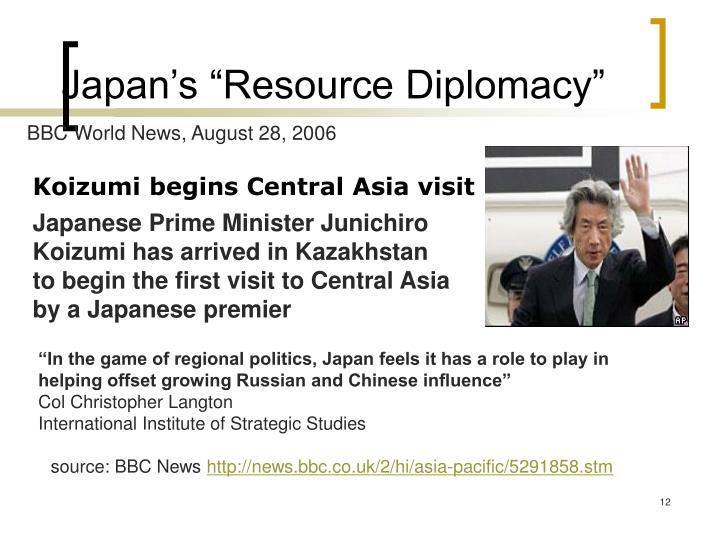 """Japan's """"Resource Diplomacy"""""""