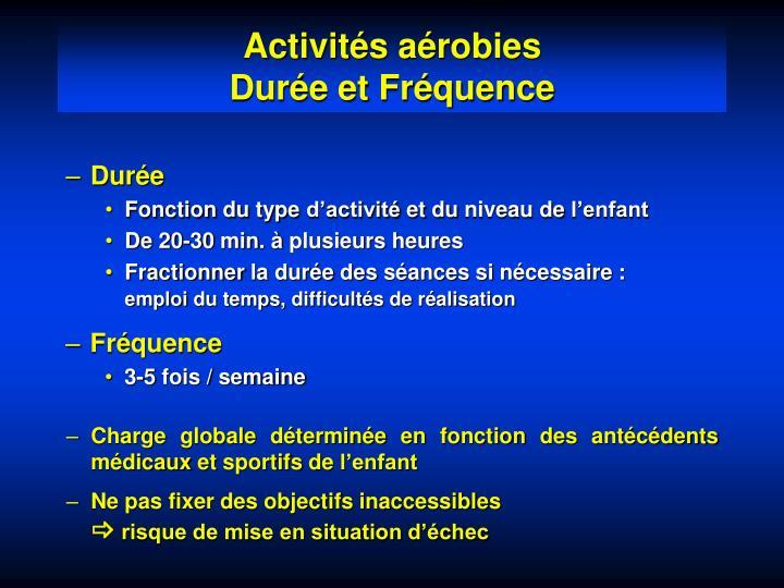 Activités aérobies