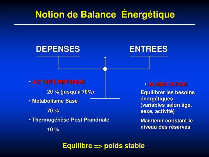 Notion de Balance  Énergétique