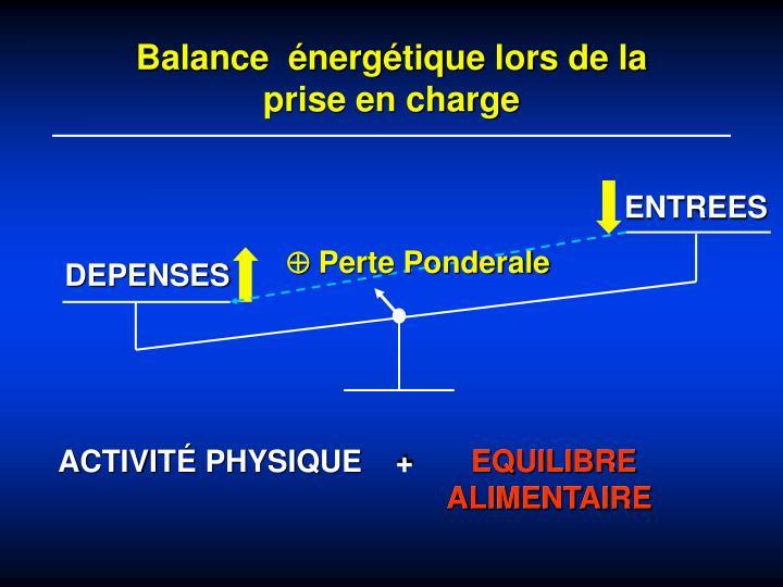 Balance  énergétique lors de la