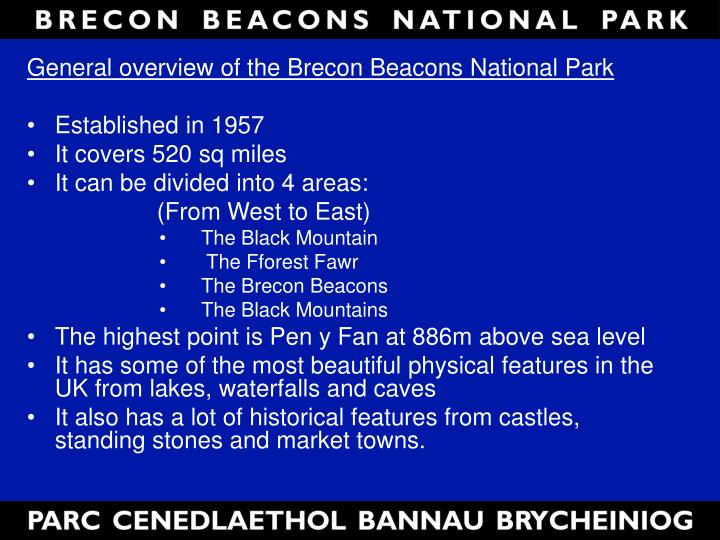 General overview of the Brecon Beacons National Park