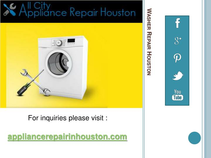 Washer Repair Houston