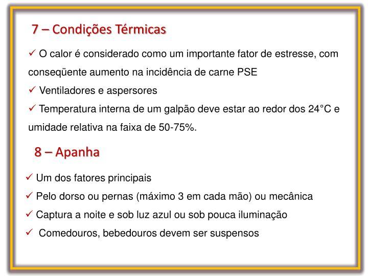 7 – Condições Térmicas