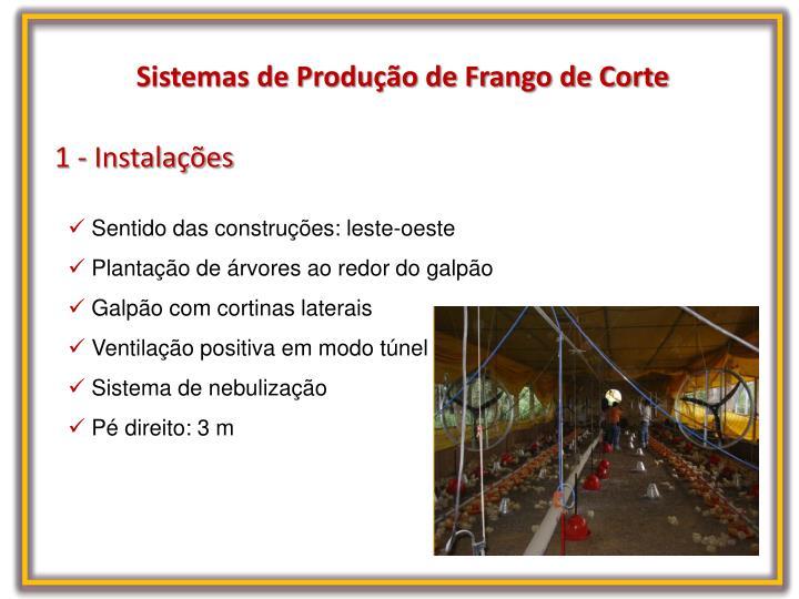 Sistemas de Produção de Frango de Corte