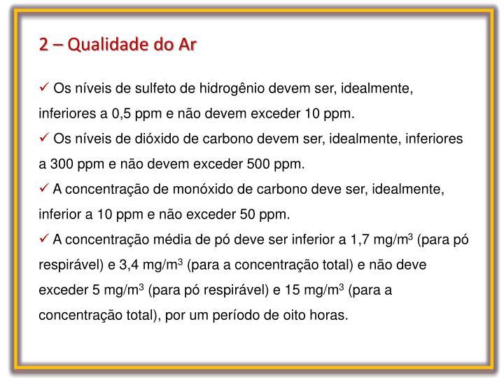 2 – Qualidade do Ar