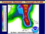 forecast rainfall through fri am