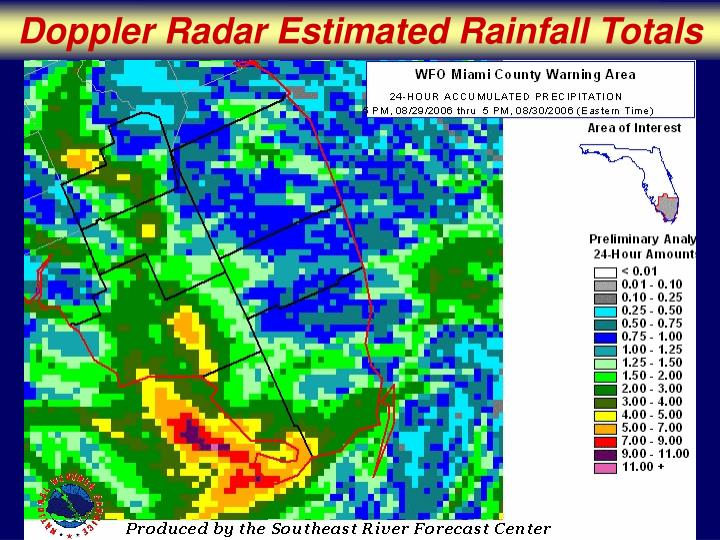 Doppler Radar Estimated Rainfall Totals