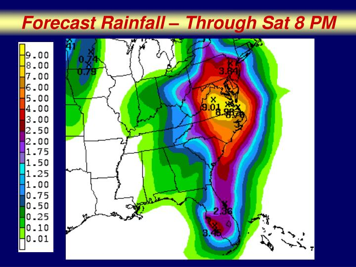 Forecast Rainfall – Through Sat 8 PM