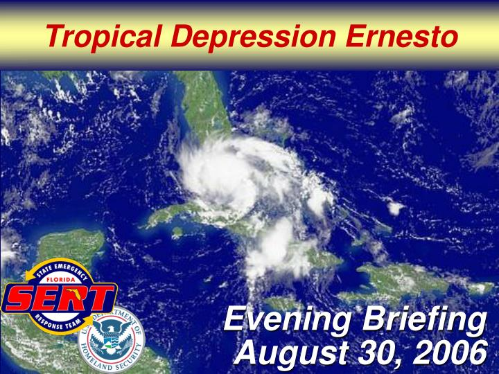 Tropical Depression Ernesto