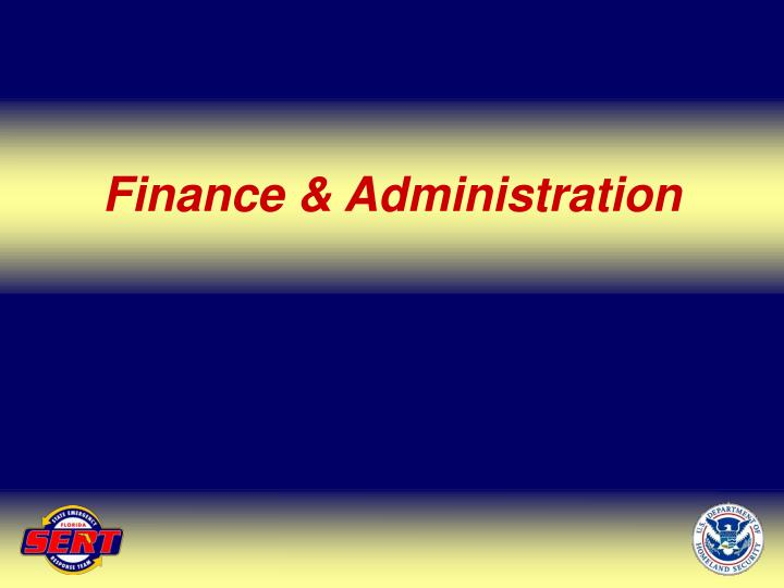 Finance & Administration
