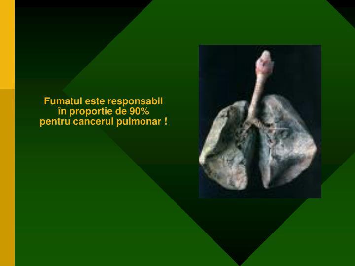 Fumatul este responsabil