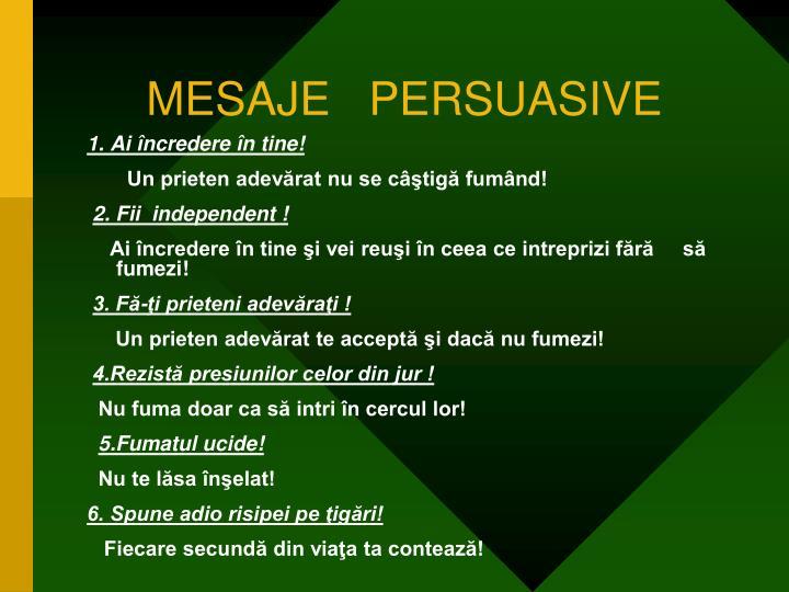 MESAJE   PERSUASIVE