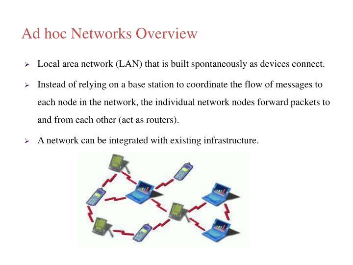 Ad hoc Networks Overview