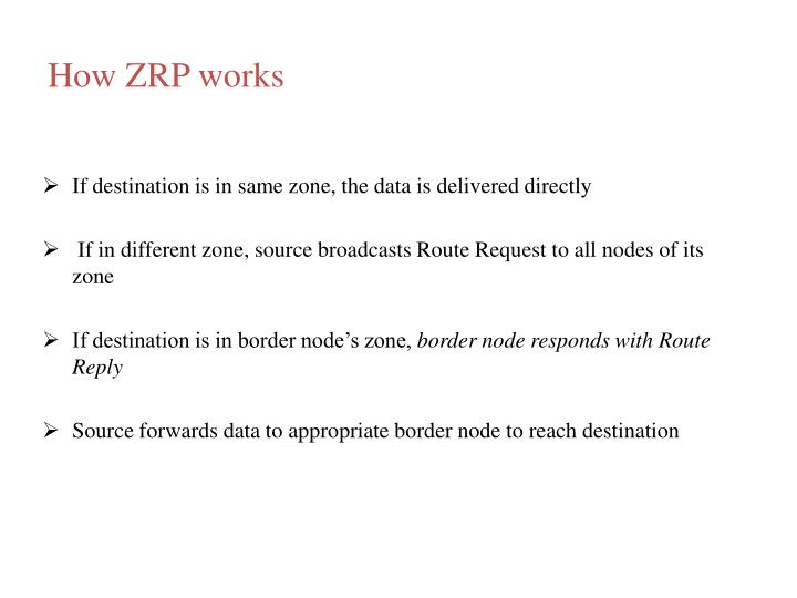 How ZRP works