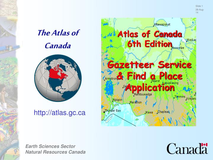 The Atlas of Canada