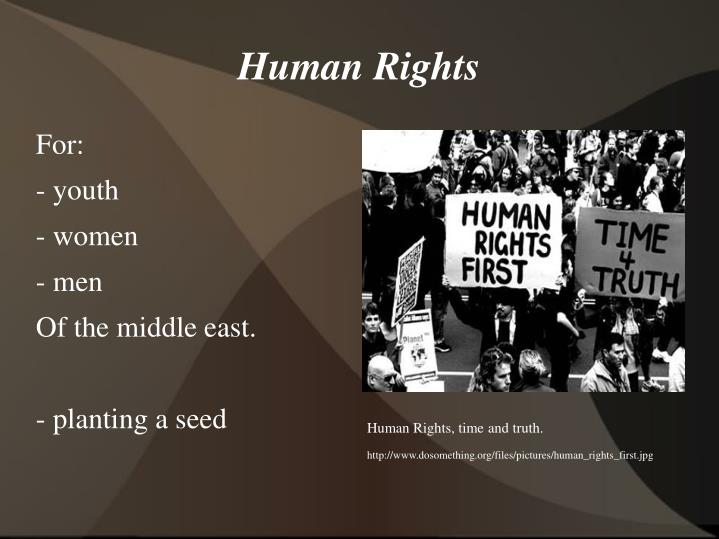 Human Rights, time and truth.