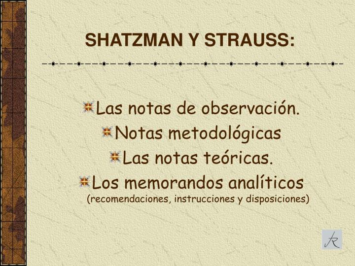 SHATZMAN Y STRAUSS: