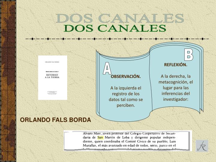 DOS CANALES