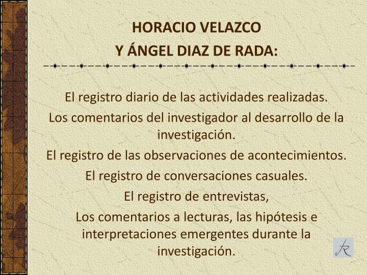 HORACIO VELAZCO