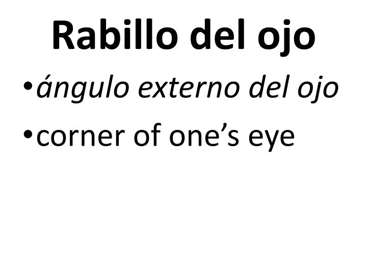 Rabillo del ojo