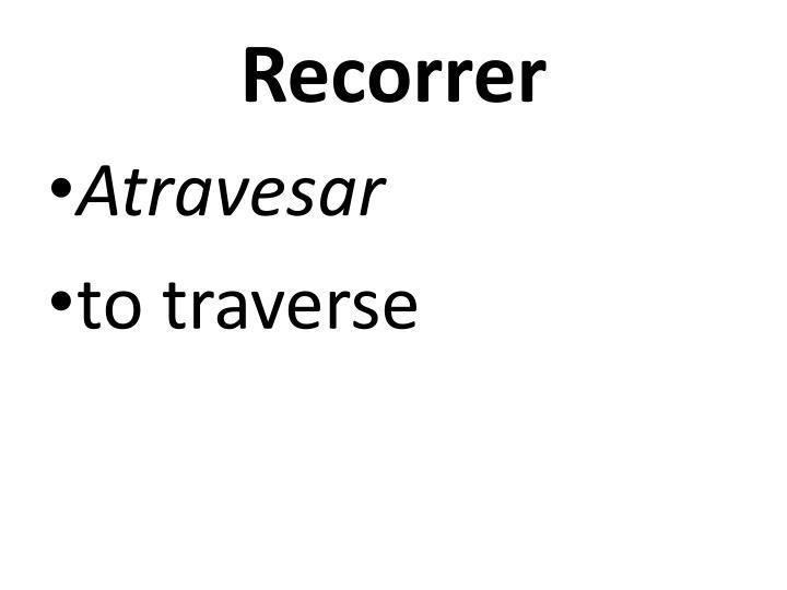 Recorrer
