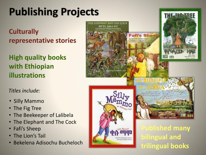 Publishing Projects