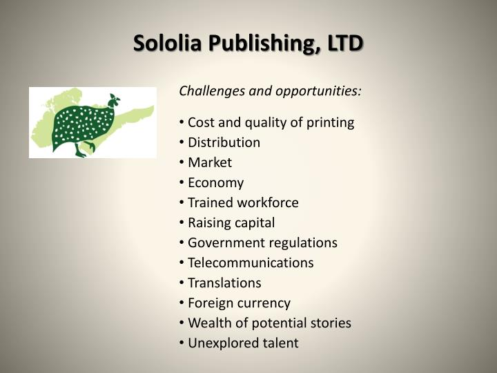 Sololia Publishing, LTD