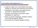 committee management cm