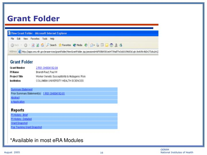 Grant Folder