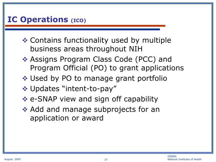 IC Operations