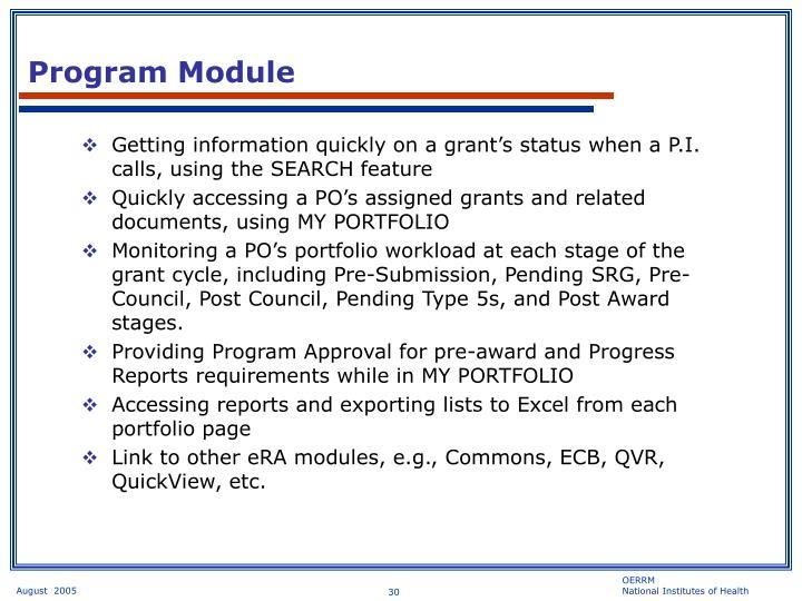 Program Module