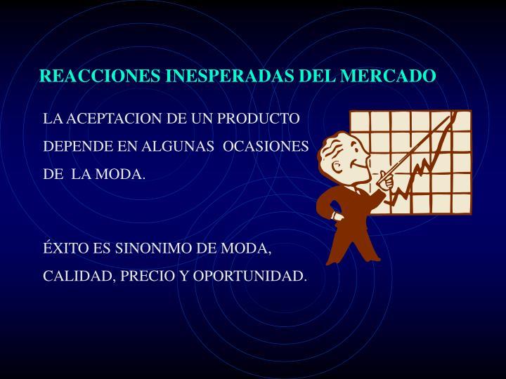REACCIONES INESPERADAS DEL MERCADO